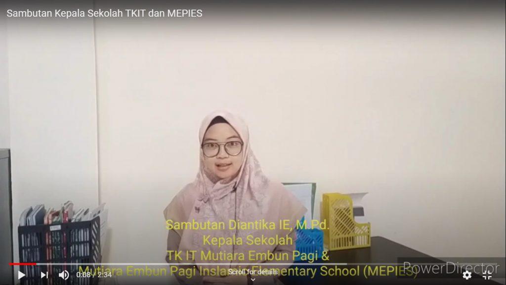 Sambutan Kepala Sekolah MEP