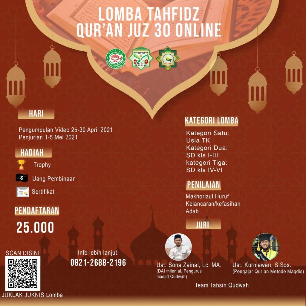 Lomba Tahfidz Tingkat Kabupaten Bandung
